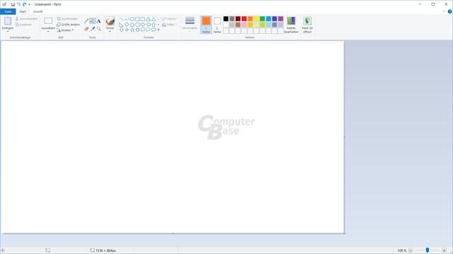 Microsoft Paint in Windows 10