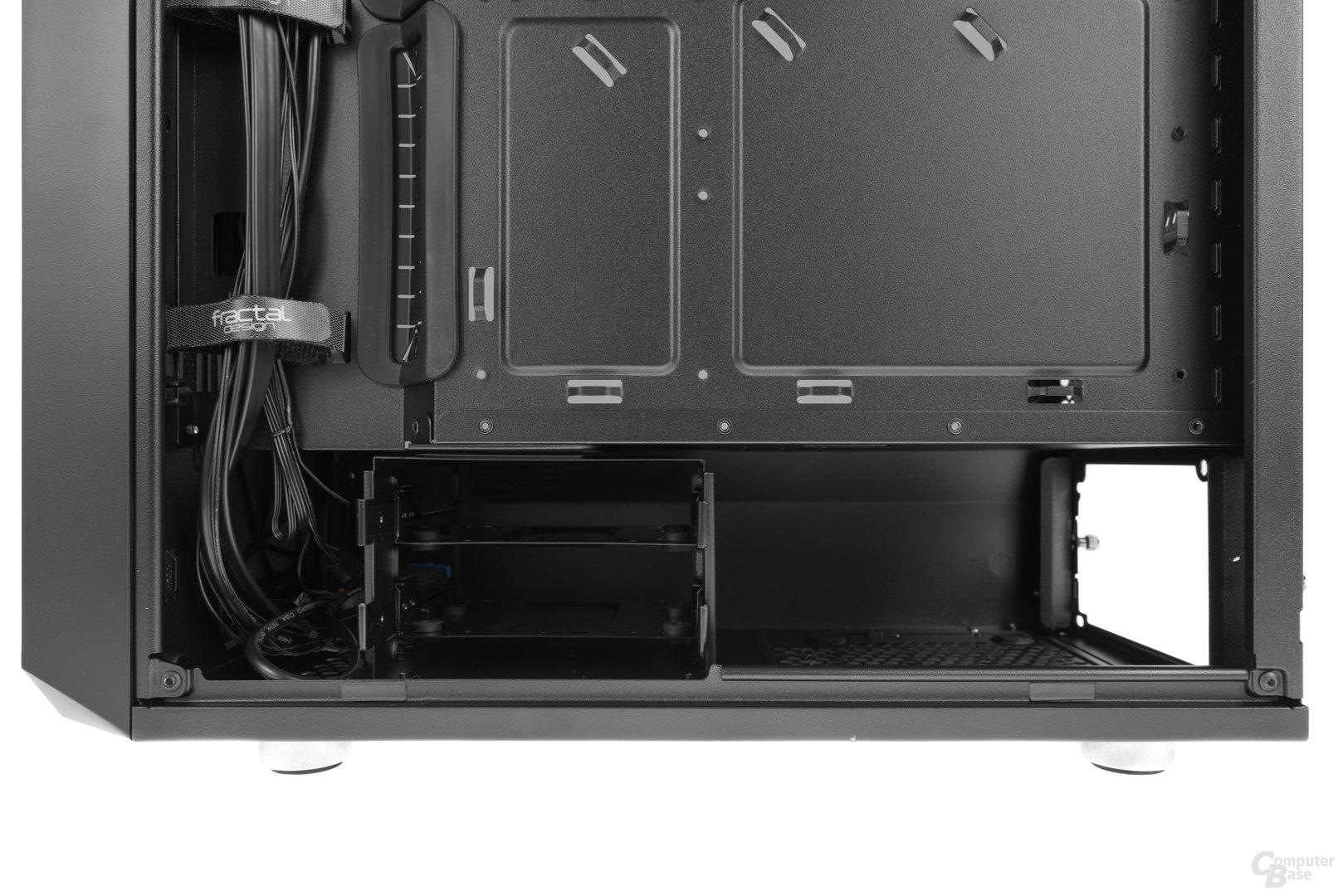 Fractal Design Meshify C – Der Netzteilschacht und ein modularer Festplattenkäfig