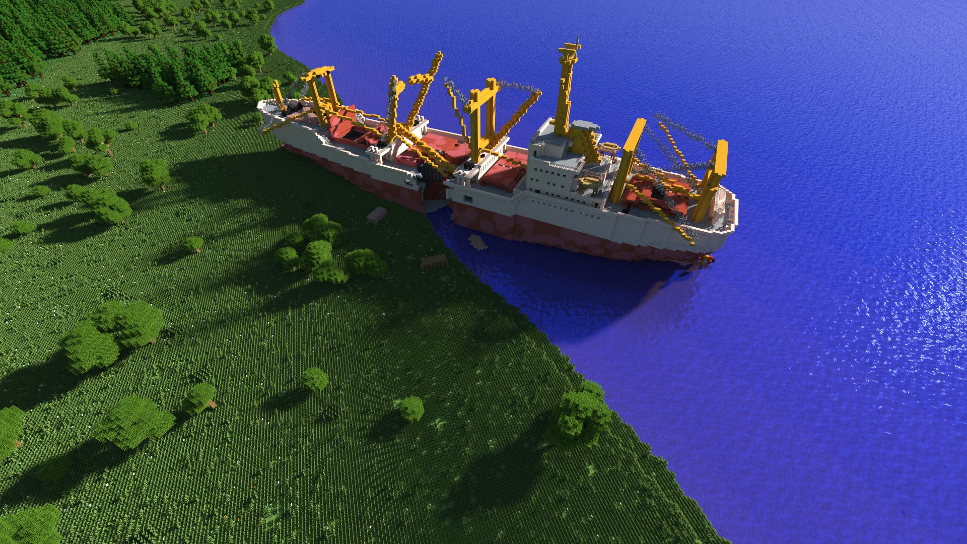 Das Schiffswrack im Osten