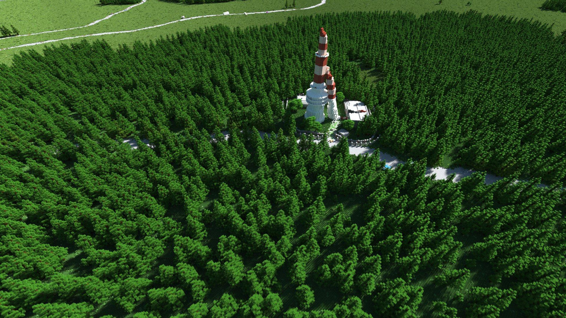 Der Funkturm auf dem Green Mountain