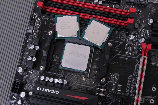 Ryzen 3 1300X und Core i3-7350K und i3-7100