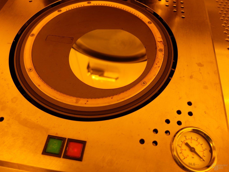 10-Zentimeter-Wafer vor dem Auftragen von Fotolack