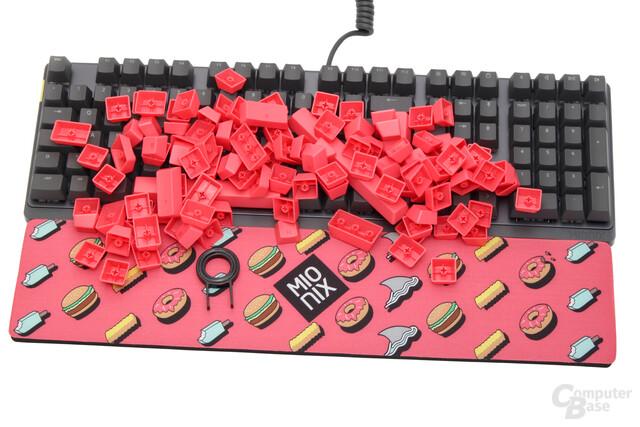 """Die """"#GetFresh""""-Kollektion besteht aus Tastatur, Tastenkappen und Long Pads"""
