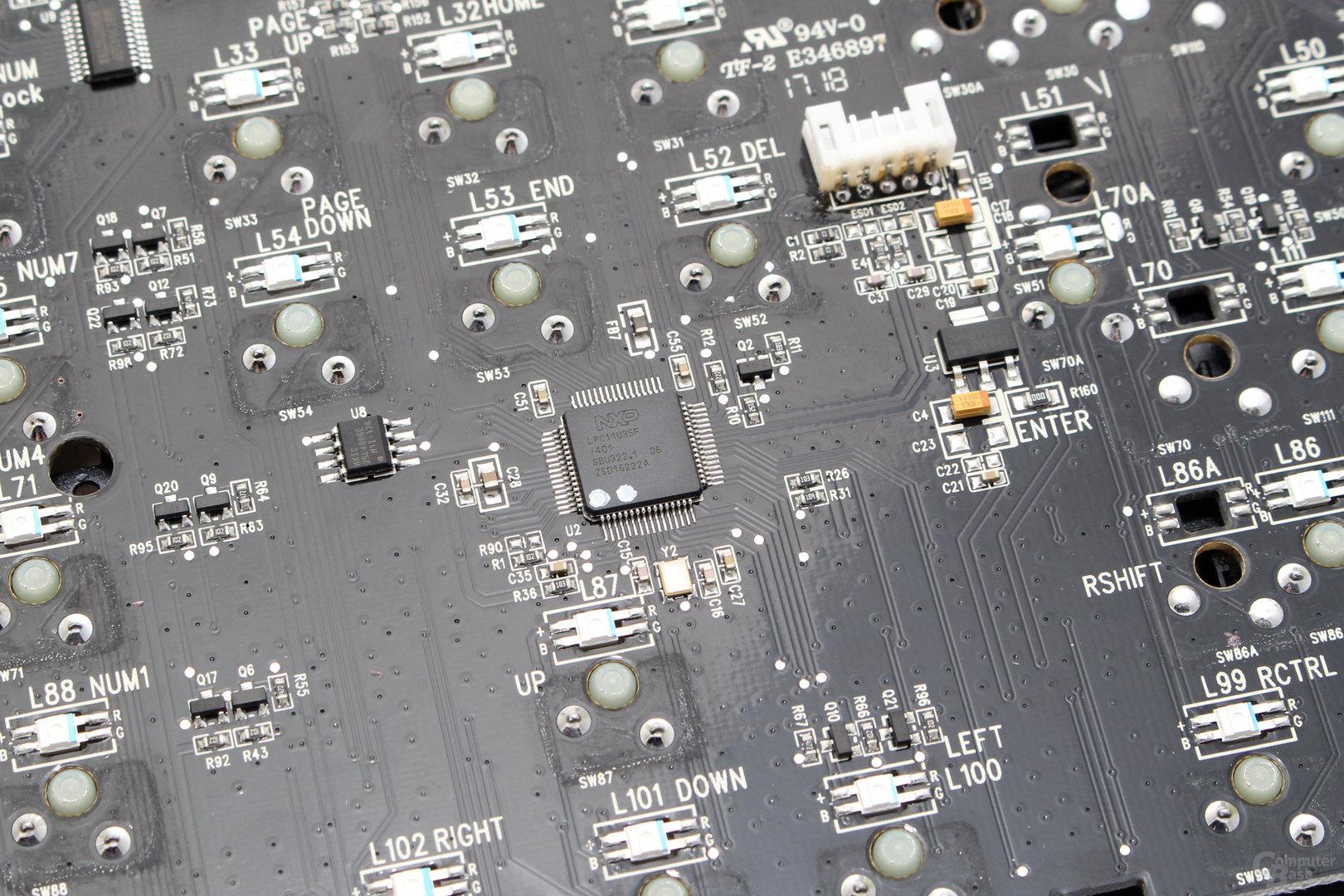 Der Mikrocontroller stammt von NPX (LPXU35F)