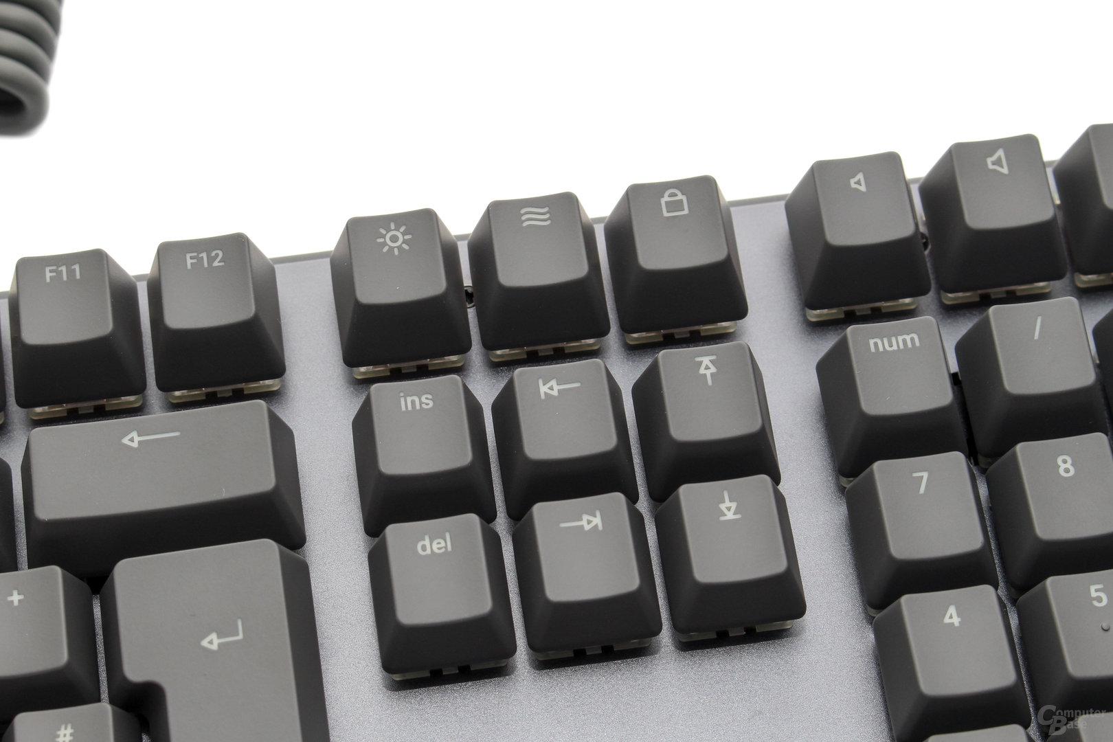 """""""Drucken"""" und Co werden für die LED-Steuerung und dem Spielemodus umfunktioniert"""