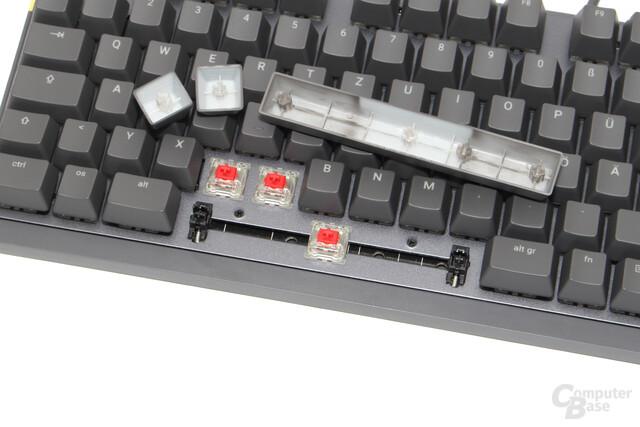 """Cherry MX RGB Red mit """"Cherry""""-Stabilisatoren"""