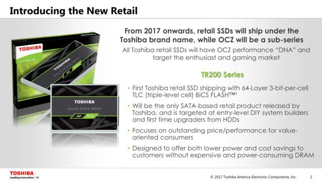 """Künftig laufen Retail-SSDs nur noch unter """"Toshiba"""""""