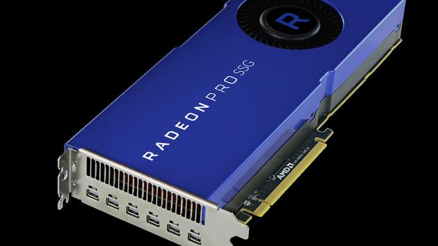 Radeon Pro SSG: Vega-Grafikkarte mit 2TByte Speicher für 7.000 US-Dollar