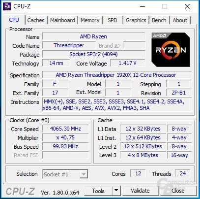 4,05 GHz für alle 32 Threads waren nicht immer stabil