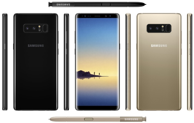 Samsung Galaxy Note 8 mit Stylus