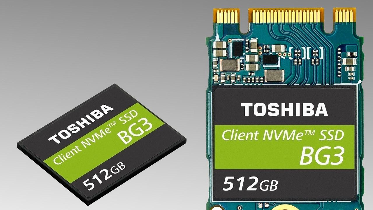 Toshiba BG3: Winzige Single-Package-SSD in 3. Generation aufgelegt