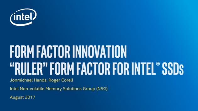 "Intel-Präsentation zum ""Ruler Form Factor"" alias EDSFF"