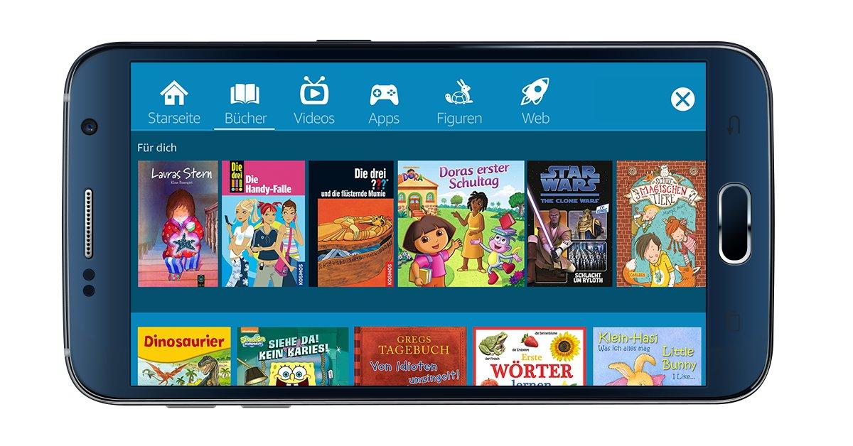 FreeTime auf einem Android-Smartphone