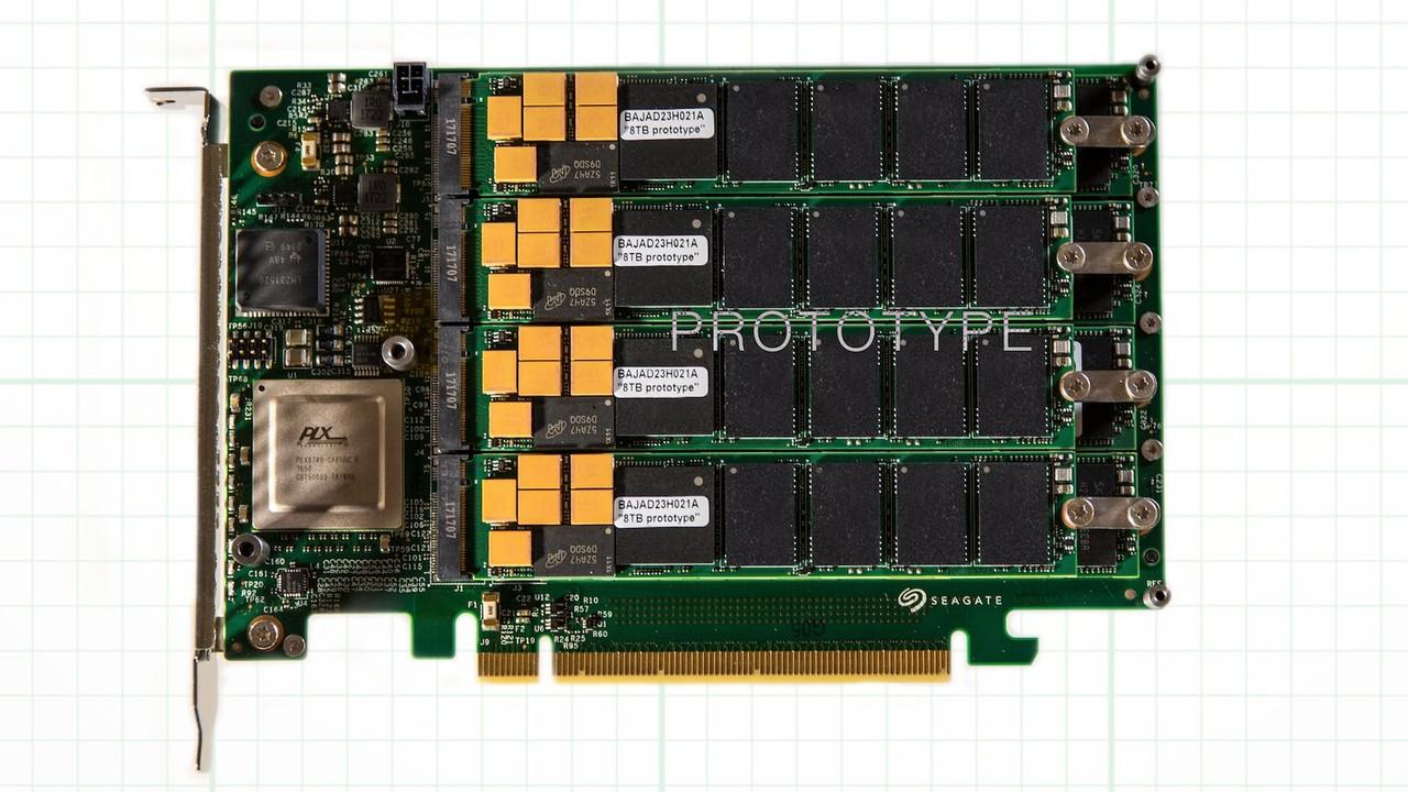 Seagate: SSD mit 64 TB erreicht 13 GB/s über PCIe x16