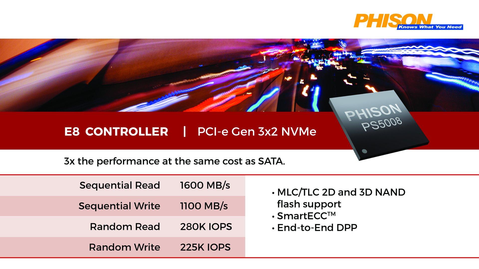 Phison E8 Controller (PS5008-E8)