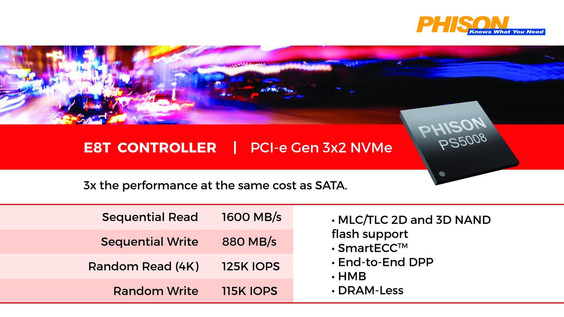 Phison E8T Controller (PS5008-E8T)