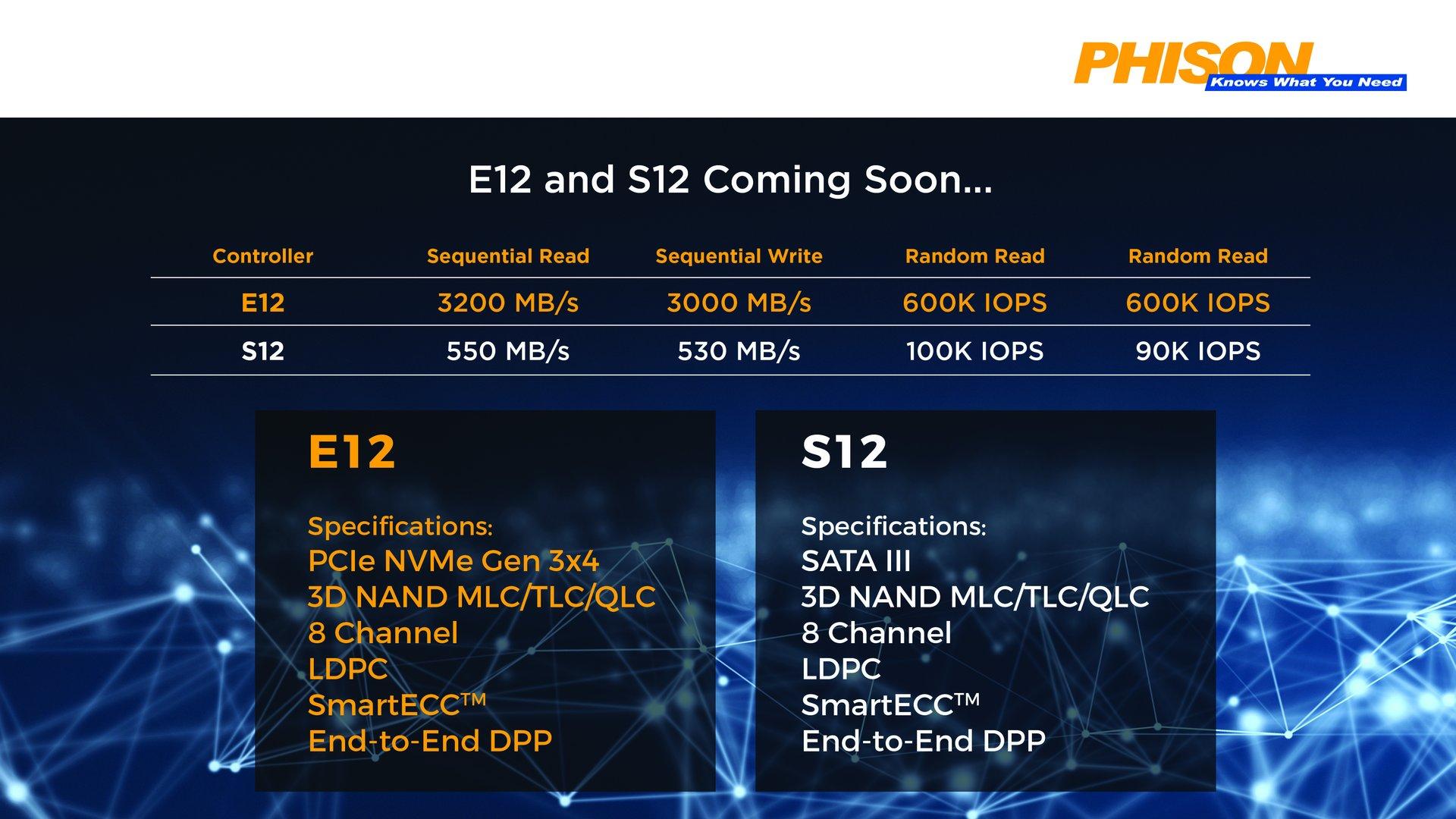 Phison-Controller E12 und S12