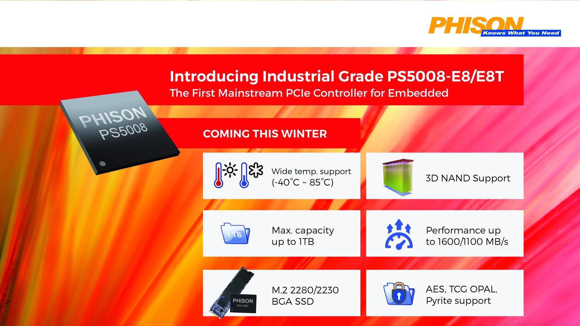 Phison E8 ist Embedded-tauglich