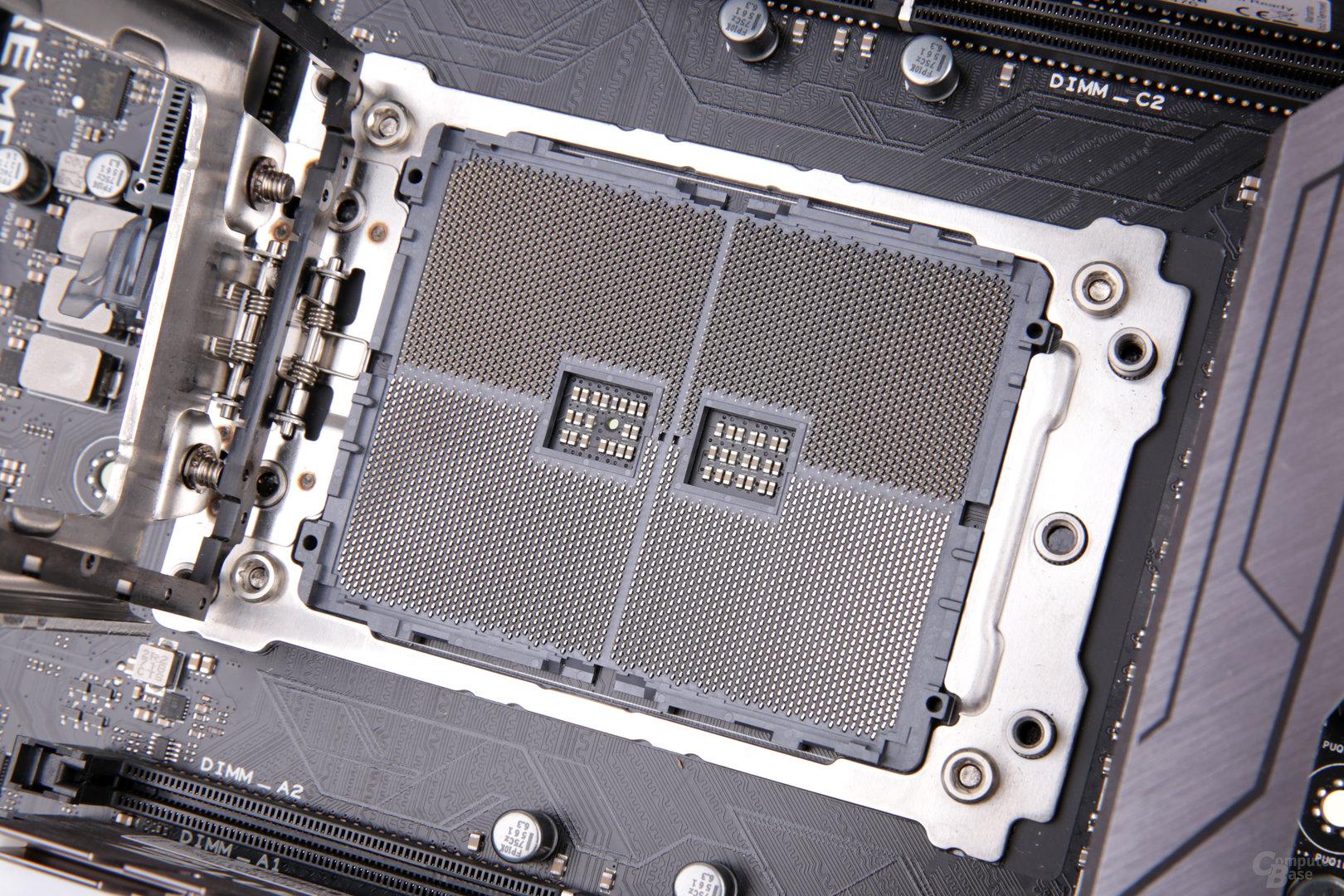 Der Sockel TR4 trägt 4.096 Pins