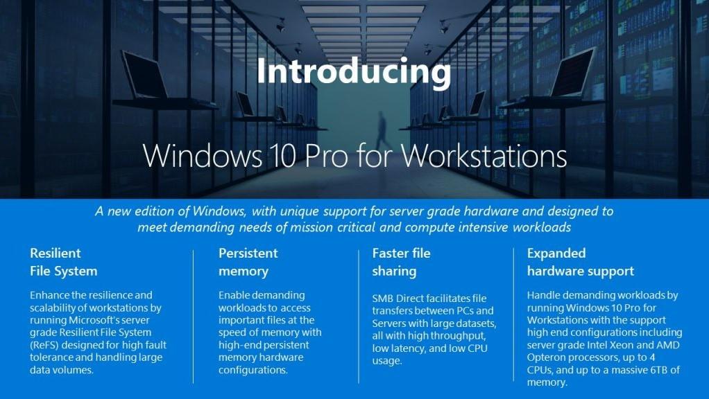 4 CPUs und 6 TB RAM: Windows 10 Pro for Workstations angekündigt