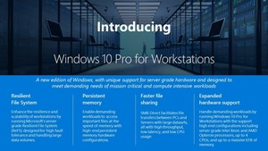 4 CPUs und 6 TB RAM: Windows 10 Pro for Workstations angekündigt