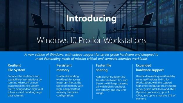 Windows 10 Pro für Workstations - Neue Version für Hochleistungs-PCs