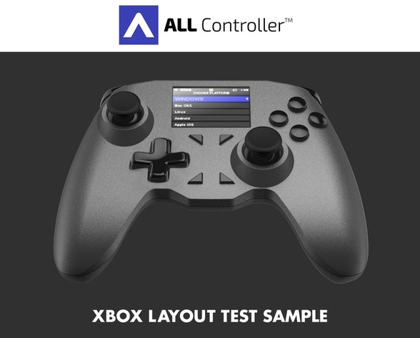 Entwurf eines All Controllers im Xbox-Layout