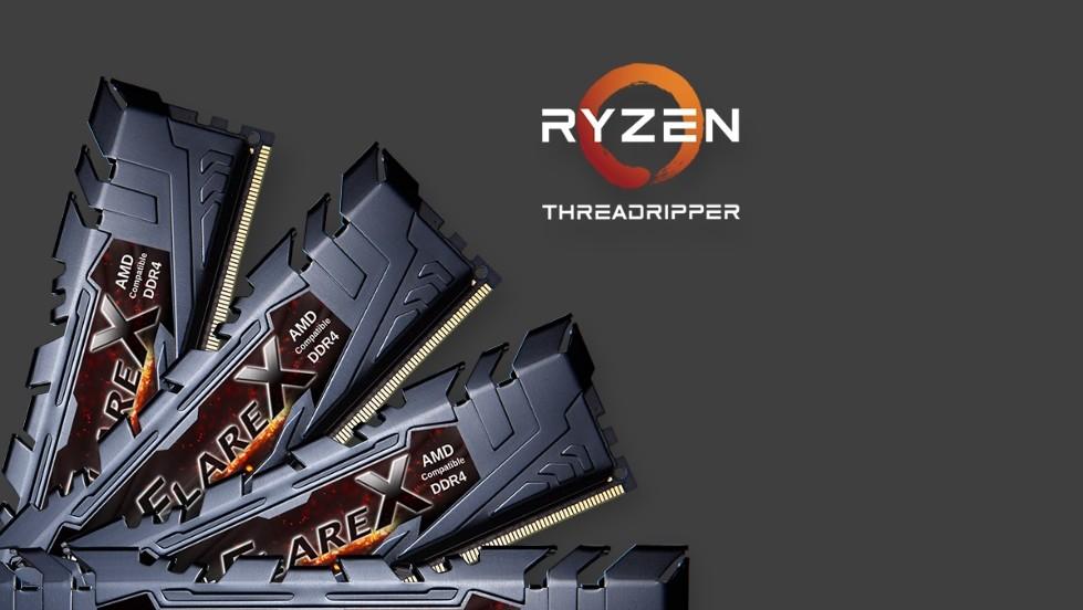 Ryzen Threadripper: 128 GByte RAM-Kit mit DDR4-2.933 von G.Skill