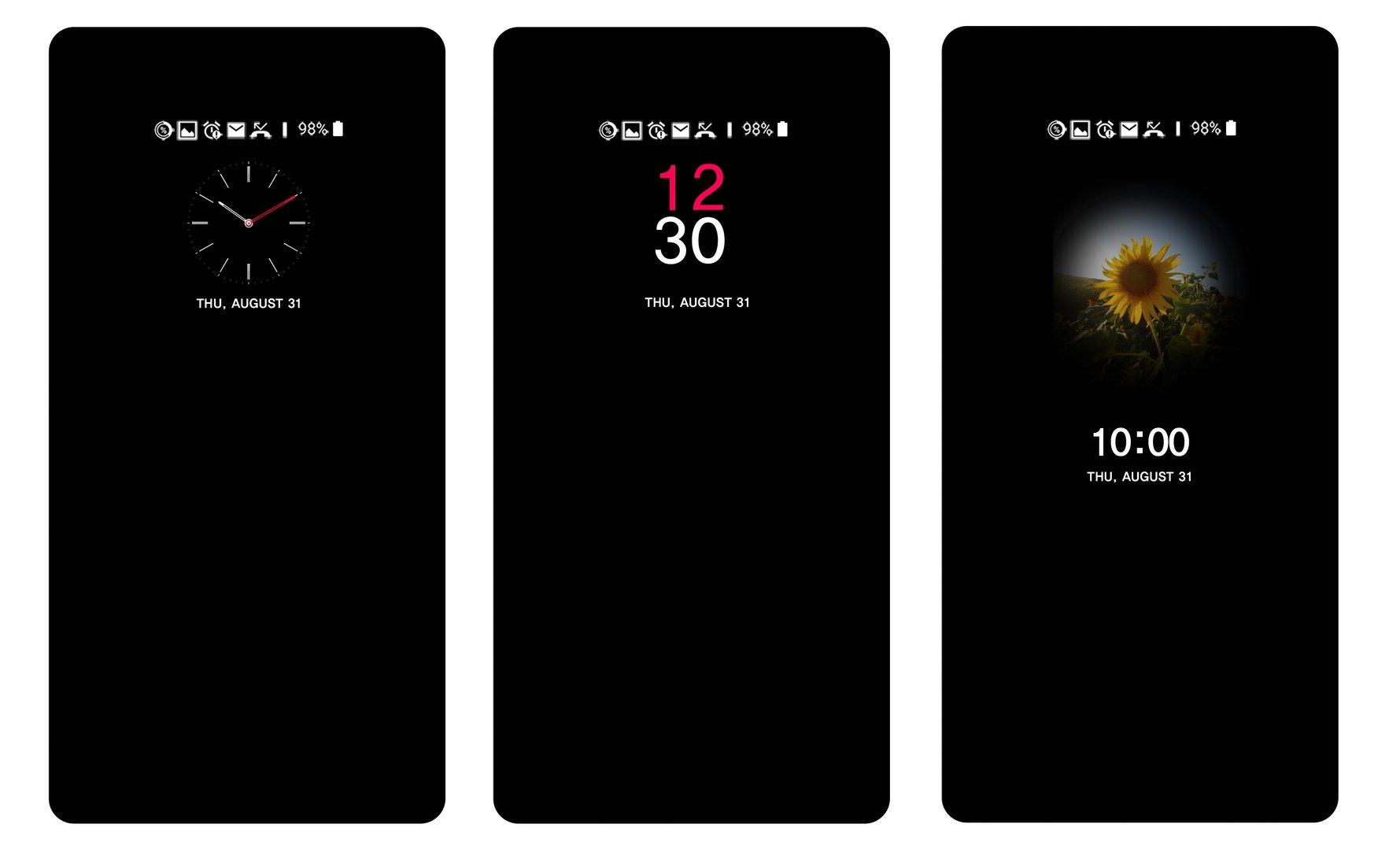 Always-on-Display des LG V30