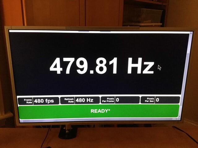 Der erste 480-Hz-Monitor als Prototyp