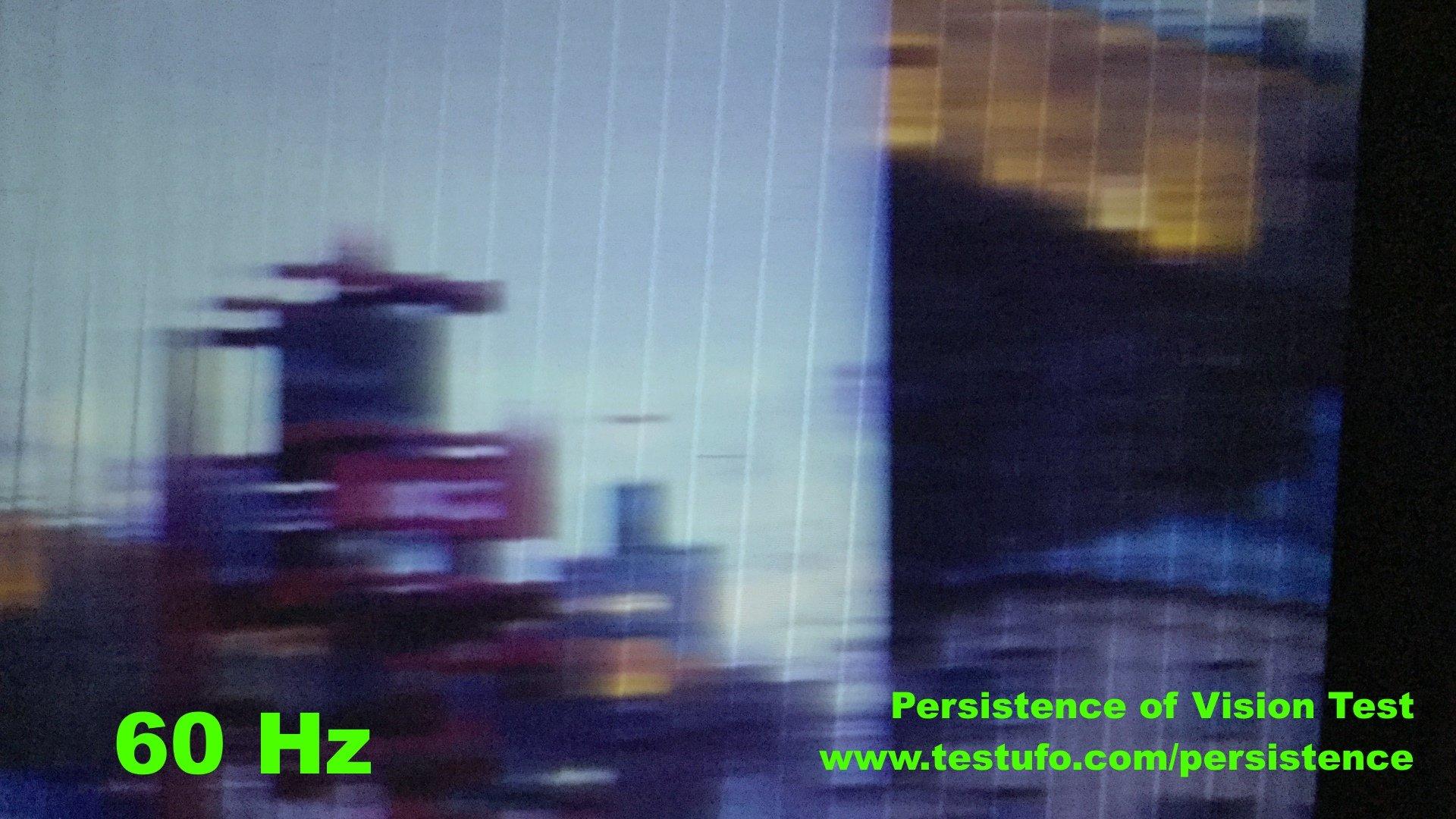 Persistence of Vision mit 60 Hertz