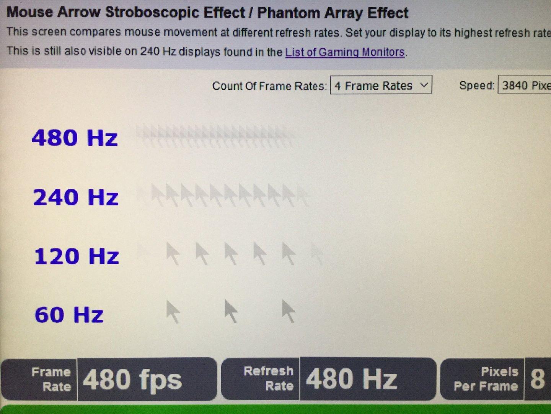 480 Hertz lassen den Mauszeiger flüssiger laufen