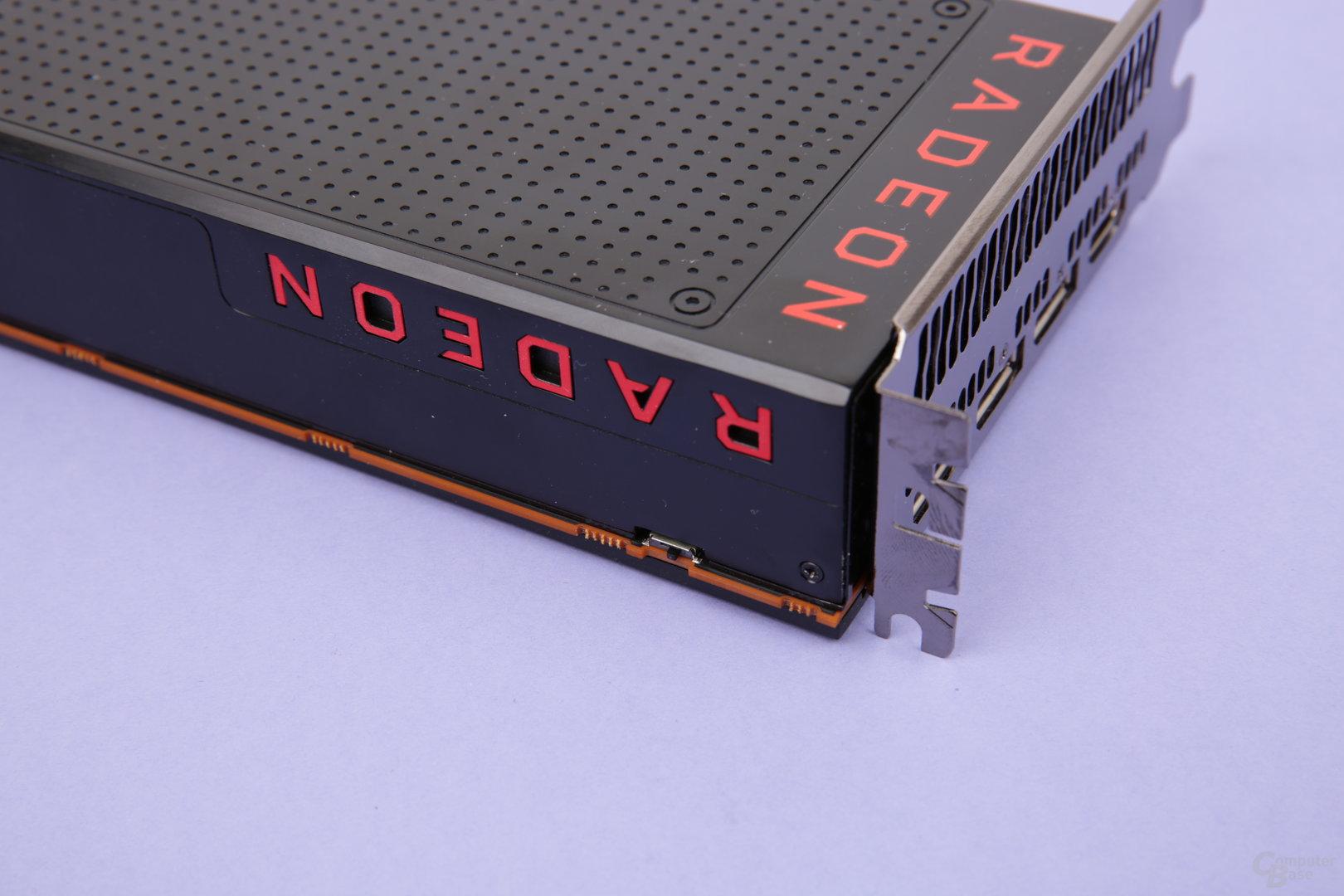 Der BIOS-Schalter der Radeon RX Vega