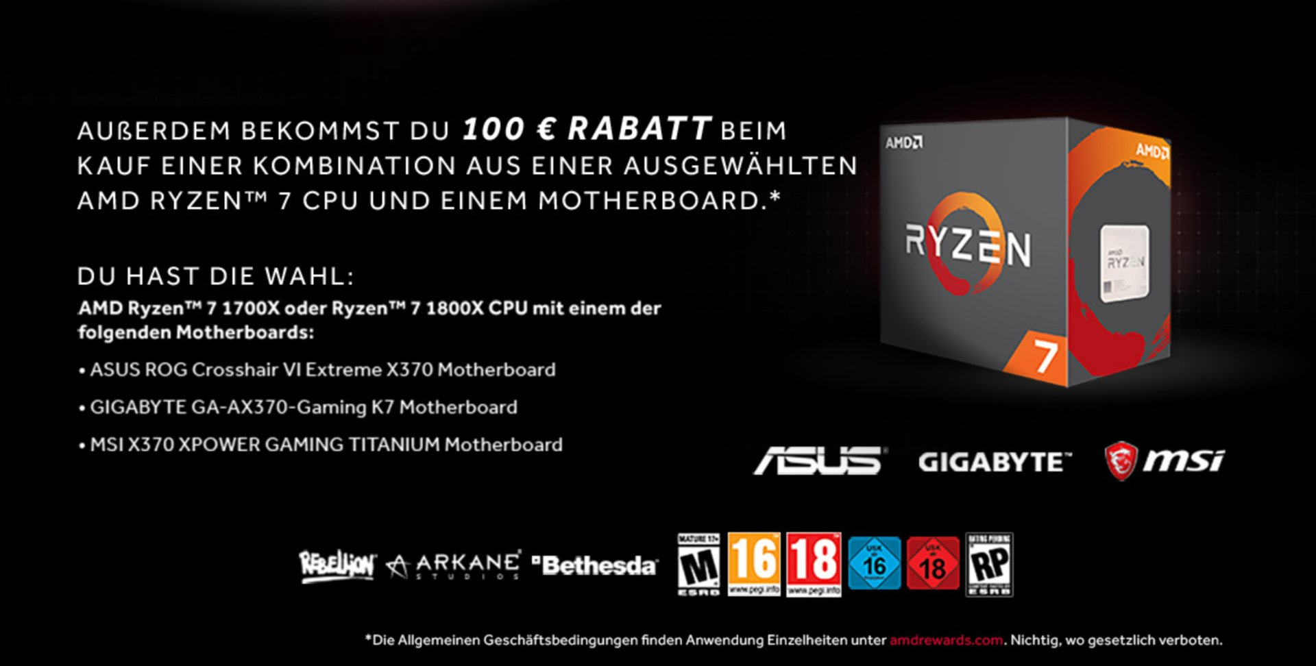RX Vega 64: 100 Euro Rabatt in Kombination mit Ryzen 7 und X370-Mainboard