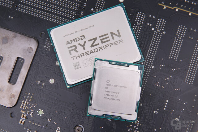 AMD Ryzen Threadripper 1900X und Intel Core i7-7820X