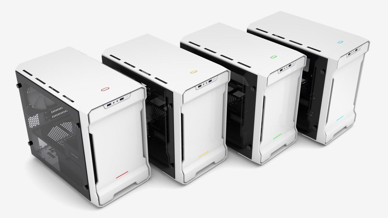 Phanteks Enthoo Evolv ITX: Upgrade bringt Echtglas-Seitenteil und RGB-Button