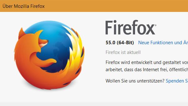 Mozilla Firefox: 64-Bit-Version wird Standard für kompatibles Windows