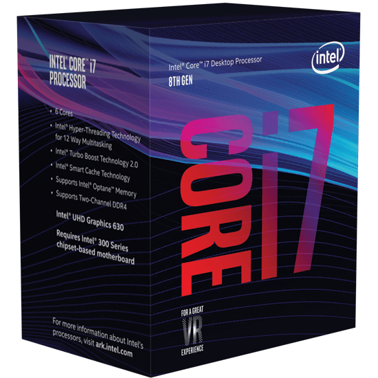 Intel Core i7 mit 6 Kernen und 12 Threads