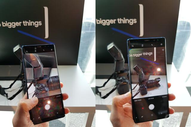 Vergleich zwischen Tele (2x) und normaler Hauptkamera (1x)