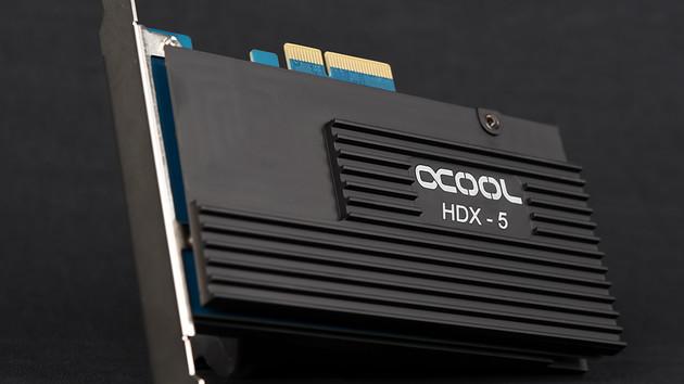 Alphacool Eisblock HDX-5: M.2-SSD-Kühler mit SATA-RAID-Controller