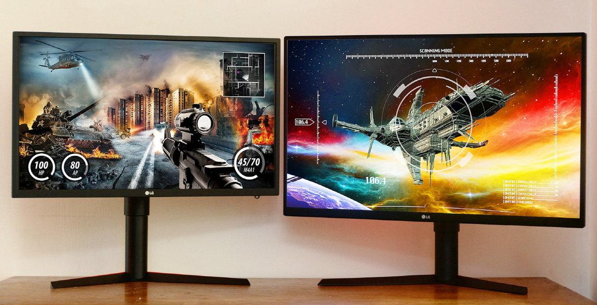 LG 27GK750 (links) und 32GK850 (rechts)