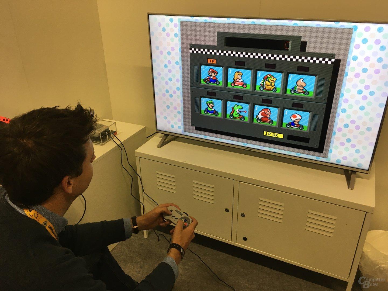 Super Mario Kart auf dem Nintendo SNES Mini