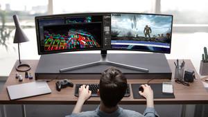 """Gaming in 32:9: Samsungs ultrabreiter 49""""-Monitor ab Montag erhältlich"""