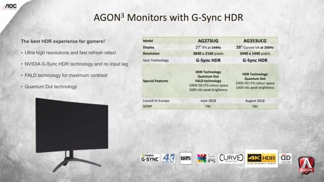 Agon 3: AG273UG und AG353UCG