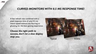 Agon 3: Curved-Monitore mit 0,5 ms Reaktionszeit