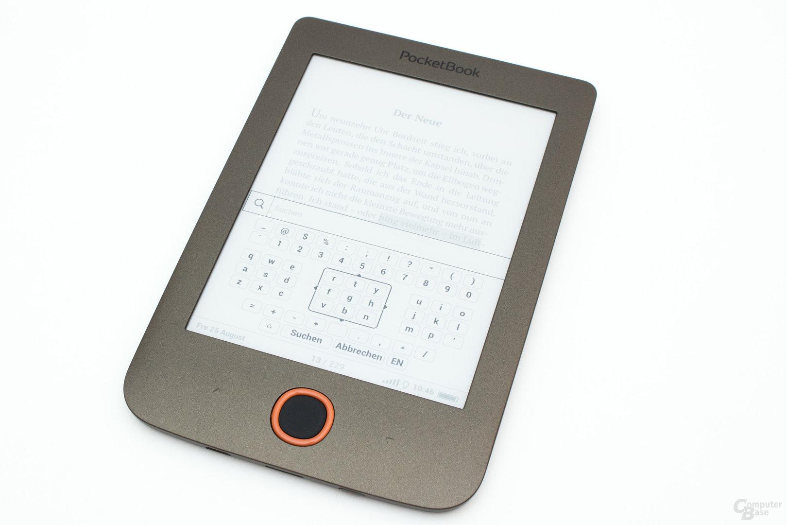 Die Tastatur als einen der Schwachpunkte beim PocketBook Basic Lux