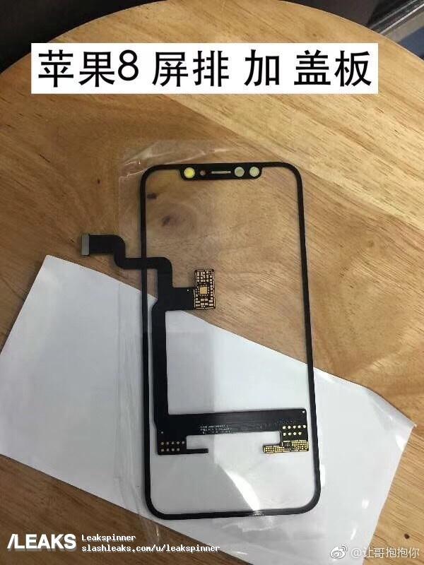 Mutmaßliche Displaybefestigung des iPhone 8