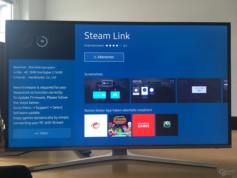 Steam Link auf einem Samsung Smart TV