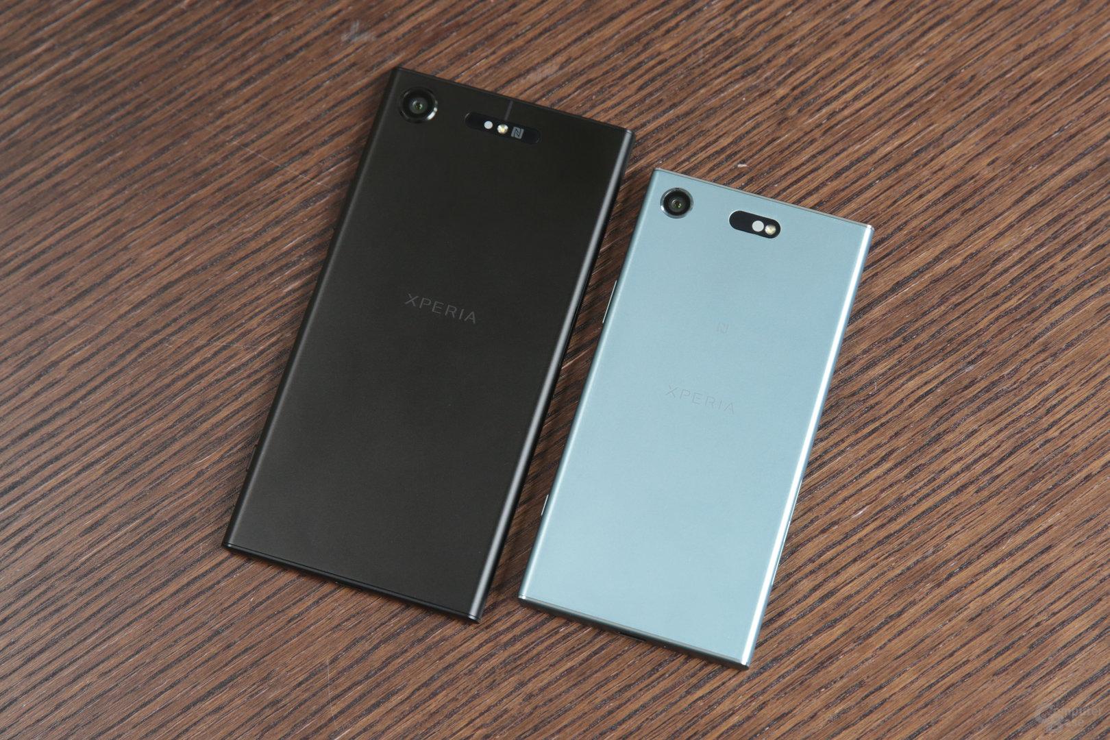 Sony Xperia XZ1 neben XZ1 Compact