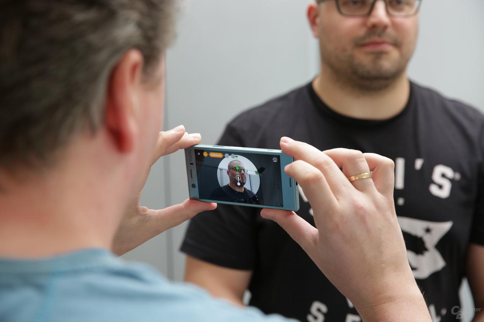 Im Anschluss wird das 3D-Bild auf dem Smartphone gespeichert